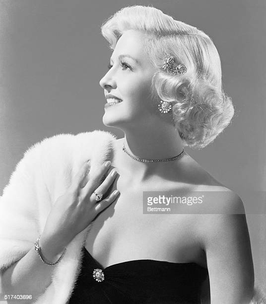 Film actress Marilyn Maxwell has been chosen as the Diamond Blonde by the Diamond Manufacturers and Importers Association of America
