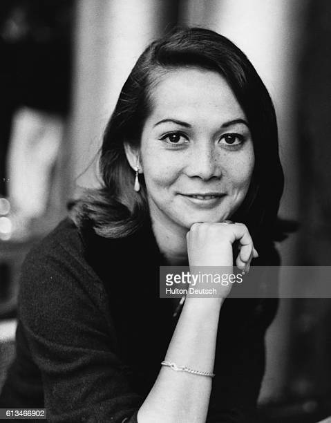 Film actress Nancy Kwan attending a press conference at the Savoy Hotel to launch her new film 'Tamahine' London 1961