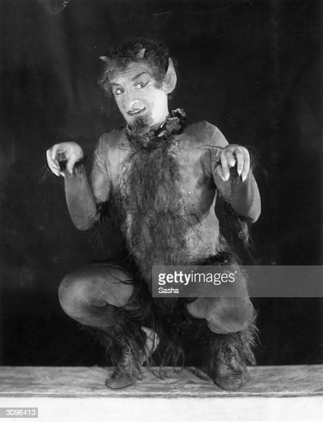 Film and stage actor Hay Petrie as 'Puck' in the Drury Lane Theatre production of Shakespeare's 'A Midsummer Night's Dream'
