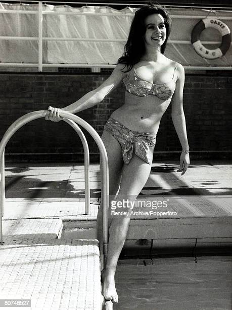 1965 English actress Francesca Annis pictured at the Oasis Swimming Pool She has been a star for many years mainly on television and the stage