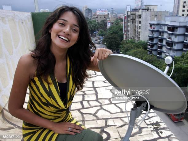 Film and TV actress Neha Jhulka at Girdhar Park, Marve Road, Malad.