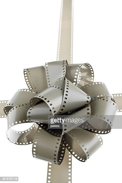 film bow and filmstrips