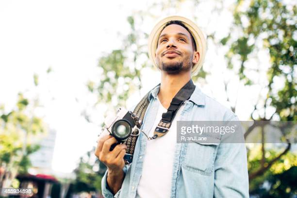 film camera photographer - photographic film camera stock photos and pictures
