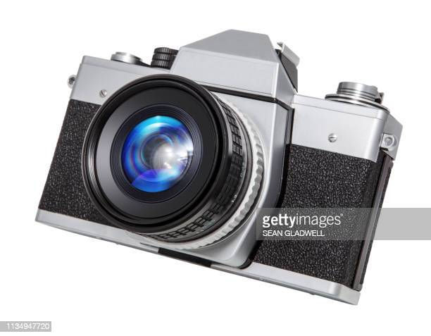 slr film camera - camera photographic equipment stock pictures, royalty-free photos & images