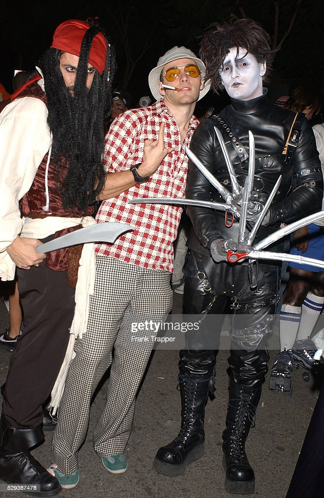 Film characters played by Johnny Depp in costume at the West Hollywood Halloween Carnival.  sc 1 st  Getty Images & Annual West Hollywood Halloween Carnival Pictures | Getty Images