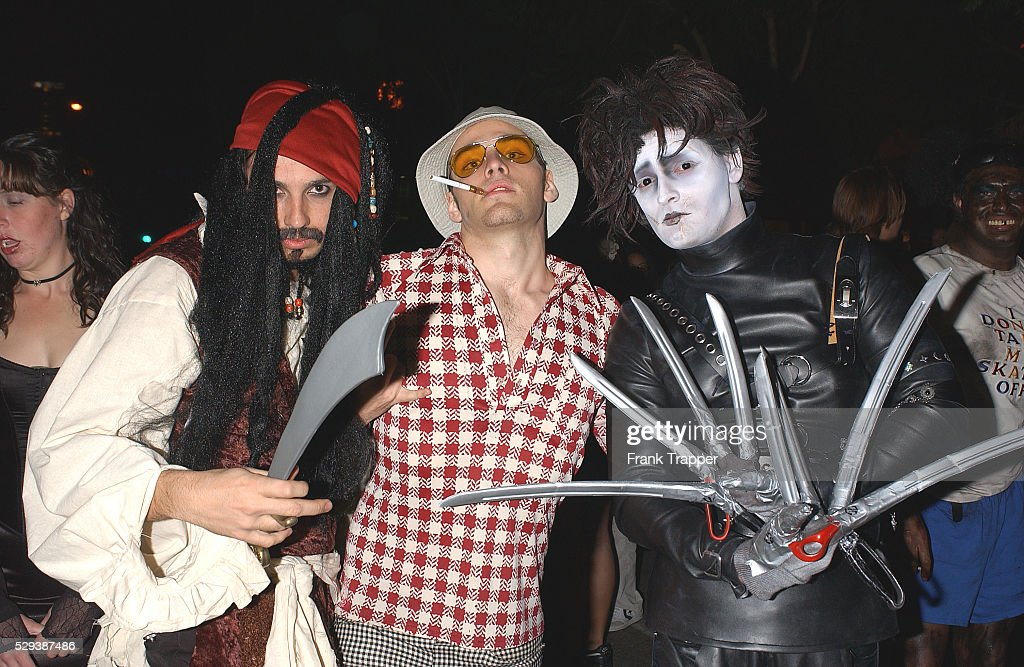 Film Characters Played By Johnny Depp In Costume At The West News