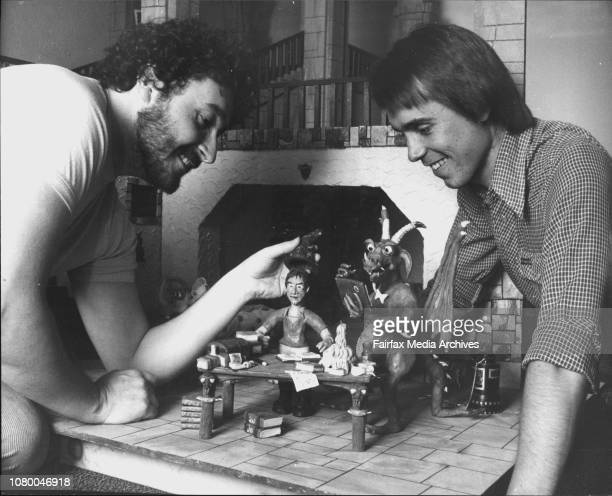 SA Film Comp Clay AnimationsMichael Cusack left and Richard Chataway with one of the scenes in 'Sorcerers Scrapbook' December 12 1984