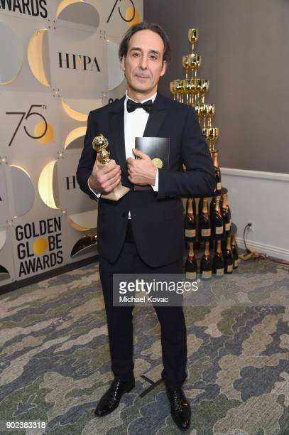 Film composer Alexandre Desplat celebrates The 75th Annual Golden Globe Awards with Moet Chandon at The Beverly Hilton Hotel on January 7 2018 in...