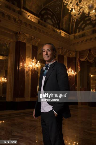 Film Composer Alexandre Desplat poses for a portrait on April 3 2019 in Rome Italy