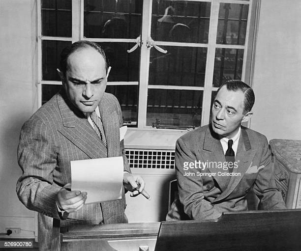 Film composers Lorenz Hart and Richard Rodgers