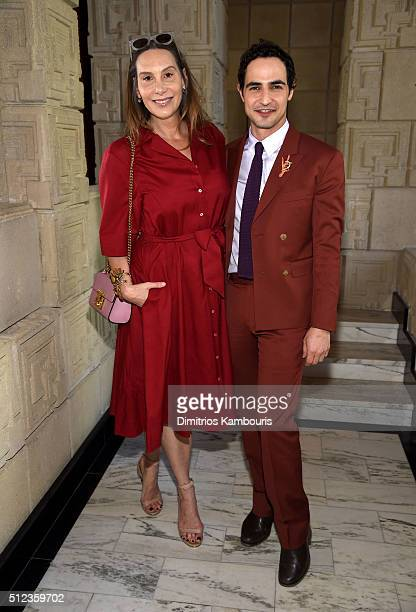Film costume designer Jacqui Getty and fashion designer Zac Posen attend the MAC Cosmetics Zac Posen luncheon at the Ennis House hosted by Karen...