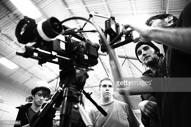 film crew - cinematographer stock pictures, royalty-free photos & images
