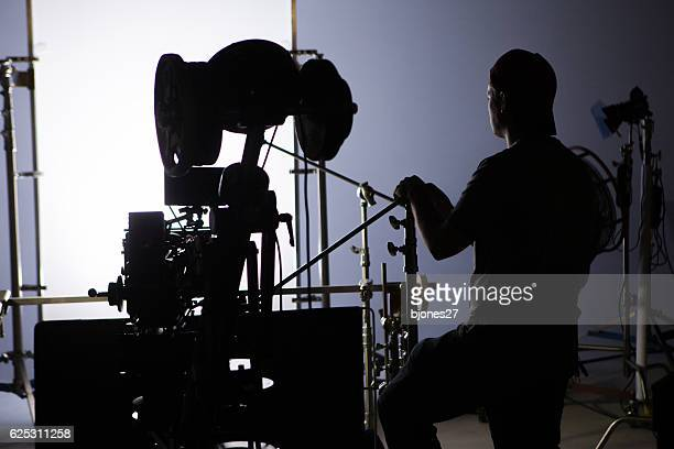 film crew - film set stock pictures, royalty-free photos & images