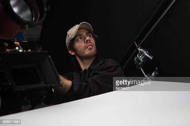 film-crew - filmregisseur stock-fotos und bilder