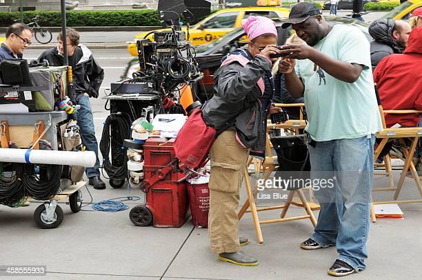 Équipe de tournage, à New York
