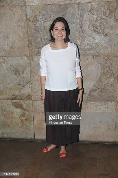 Film critic Anupama Chopra during screening of making of Dangal at Lightbox Santacruz on November 28 2016 in Mumbai India Dangal is a sports biopic...