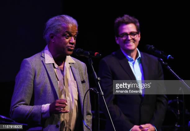 Film critic Elvis Mitchell and Film Independent President Josh Welsh attend Film Independent's Live Read of When Harry Met Sally at the Wallis...