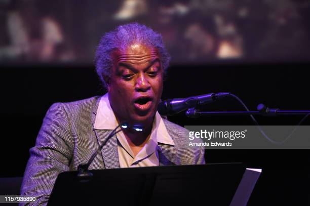 Film critic Elvis Mitchell attends Film Independent's Live Read of When Harry Met Sally at the Wallis Annenberg Center for the Performing Arts on...