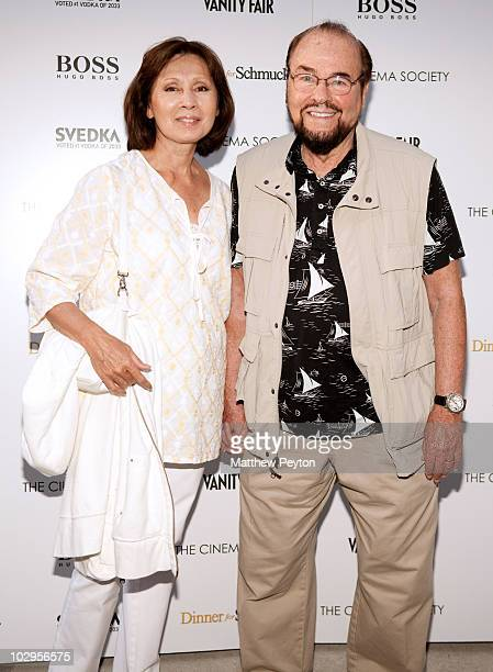 Film critic James Lipton and wife Kedakai Turner Lipton attend the Cinema Society with Vanity Fair Hugo Boss screening of Dinner For Schmucks at East...