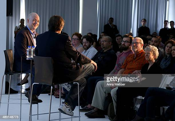 Film Critic Matt Zoller Seitz and Producer David Milch speak onstage during Vulture Festival presented by New York Magazine at Milk Studios on May 10...