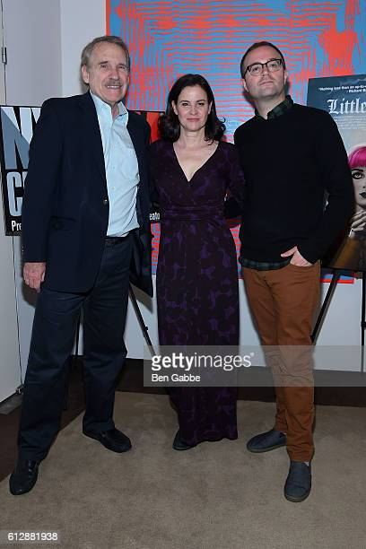 Film critic Peter Travers actress Ally Sheedy and actor/director Zach Clark attend the New York Film Critics Series 'Little Sisters' QA at The Core...