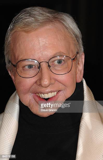 Film critic Roger Ebert arrives at the 61st Annual DGA Awards at the Hyatt Regency Century Plaza on January 31 2009 in Los Angeles California