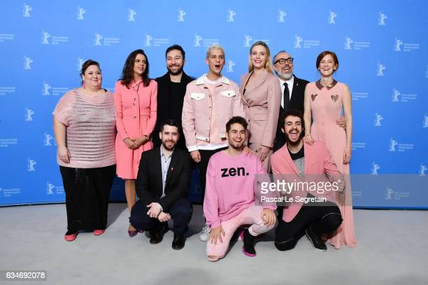 Film director actors and producers attend the 'Skins' photo call during the 67th Berlinale International Film Festival Berlin at Grand Hyatt Hotel on...