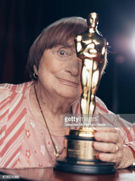 Film director Agnes Varda is photographed for Paris Match on November 11 2017 in Los Angeles California