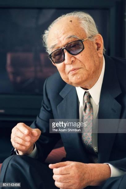 Film Director Akira Kurosawa speaks during the Asahi Shimbun interview on November 16 1994 in Tokyo Japan