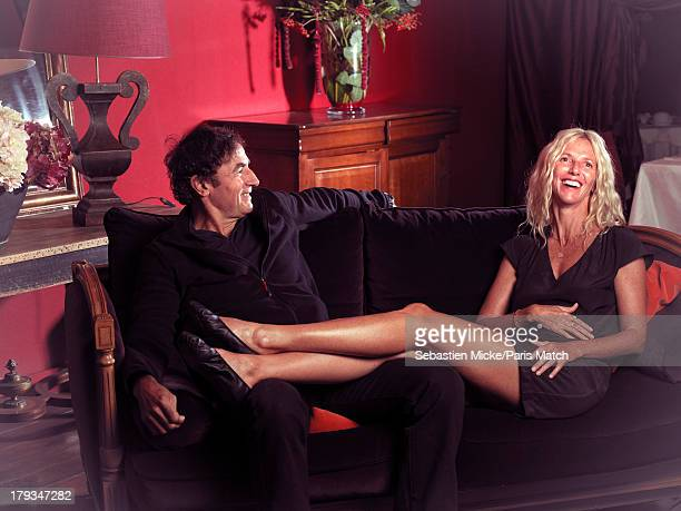 Film director Albert Dupontel and actor Sandrine Kiberlain are photographed for Paris Match on August 24 2013 in Angouleme France