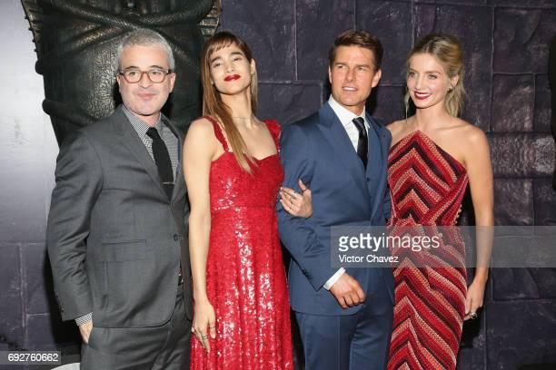 Film director Alex Kurtzman Sofia Boutella Tom Cruise and Annabelle Wallis attend 'The Mummy' Mexico City premiere at Plaza Carso on June 5 2017 in...