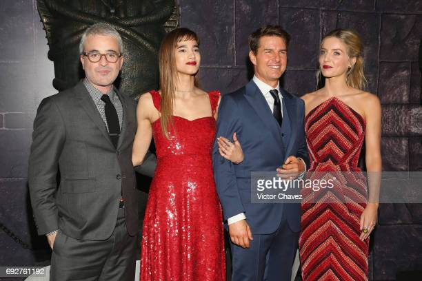 Film director Alex Kurtzman Sofia Boutella Tom Cruise and Annabelle Wallis attend 'The Mummy' Mexico City premiere at Plaza Carso on June 5 2017 in...