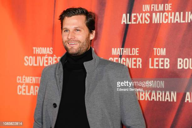 Film director Alexis Michalik during the 'Edmond' Paris Premiere photocall at Cinema Pathe Beaugrenelle on December 17 2018 in Paris France