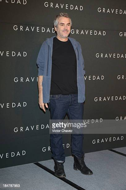 Film director Alfonso Cuaron attends a photocall to promote his new film Gravity at St Regis Hotel on October 16 2013 in Mexico City Mexico