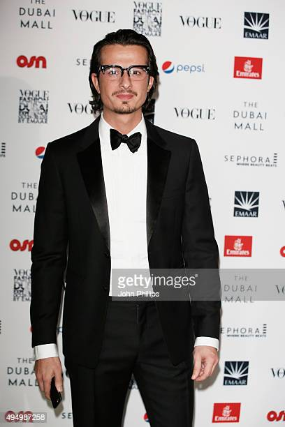 Film Director Ali Mostafa attends the Gala event during the Vogue Fashion Dubai Experience 2015 at Armani Hotel Dubai on October 30 2015 in Dubai...