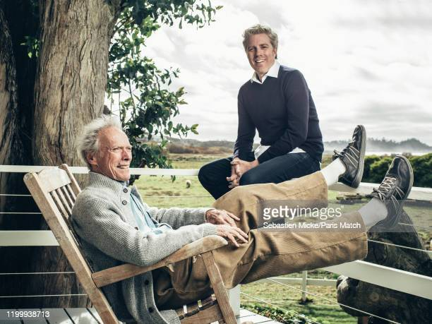Film director and actor Clint Eastwood with his son Kyle are photographed for Paris Match at his ranch in Carmel United States on January 28 2020