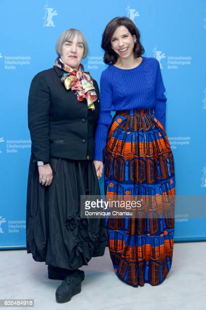 Film director and screenwriter Aisling Walsh and actress Sally Hawkins attend the 'Maudie' photo call during the 67th Berlinale International Film...