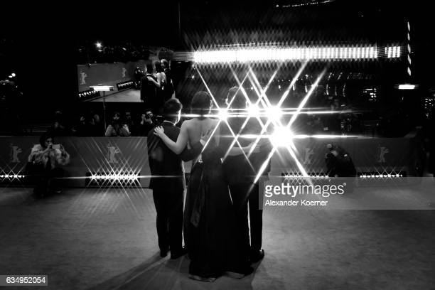 Film director and screenwriter Sebastian Lelio actress Daniela Vega and Actor Francisco Reyes attend the 'A Fantastic Woman' premiere during the 67th...