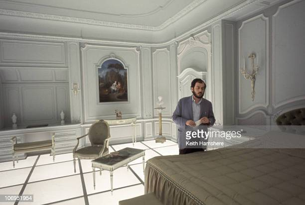 Film director and screenwriter Stanley Kubrick on the set of '2001 A Space Odyssey' at the MGM British Studios in Borehamwood Hertfordshire 1966