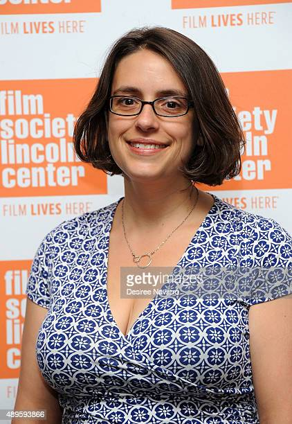 Film Director Anna Boden attends The Film Society of Lincoln Center sneak previews 'Mississippi Grind' at The Film Society of Lincoln Center Walter...