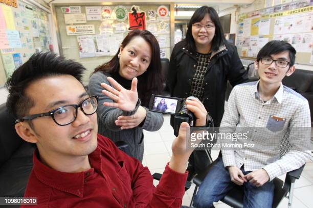 Film director Anthony Cheung Cheukho Hong Kong Association of the Deaf president Amy Lau Laifong News of Deaf Director Director Mary Ng Suiping and...