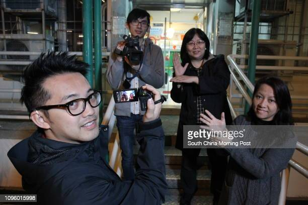 Film director Anthony Cheung Cheukho Terry Tsoi Keikwai News of Deaf Director Mary Ng Suiping and Hong Kong Association of the Deaf president Amy Lau...