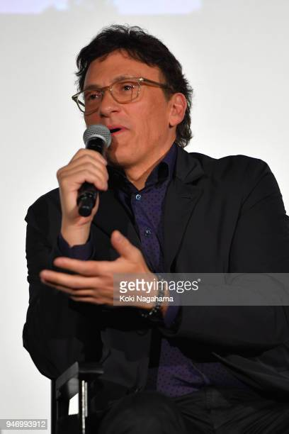 Film Director Anthony Lusso attends the fan event for 'Avengers Infinity War' Tokyo premiere at the TOHO Cinemas Hibiya on April 16 2018 in Tokyo...