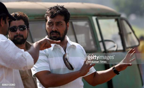 Film director Anurag Kashyap directing the film No Smoking at Kamlistan Studio