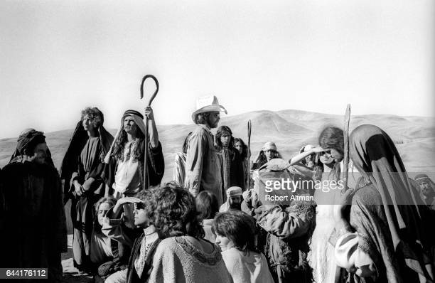 Film director Artie Mitchell directs during the Sodom and Gomorrah set circa July 1974 in Castro Valley California