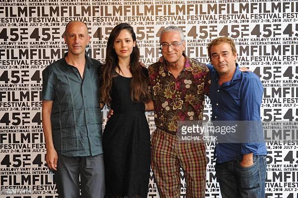 Film director August Vila film actress Martina Garcia film producer Luis Minarro and film actor Eduard Fernandez all from Spain pose for...