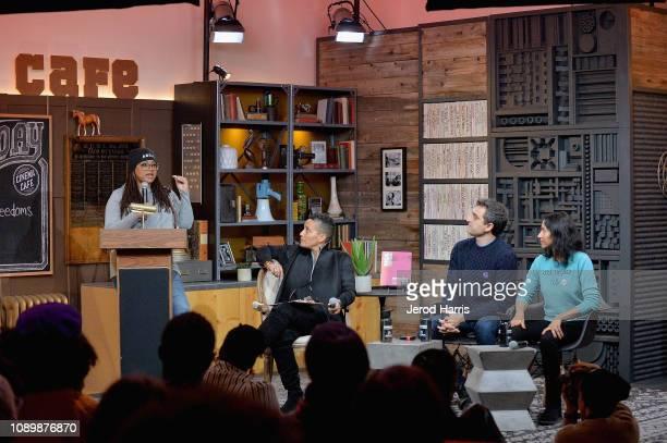 Film director Ava DuVernay Director of the Documentary Film Program at Sundance Institute Tabitha Jackson artist Eric Gottesman and author Tanya...