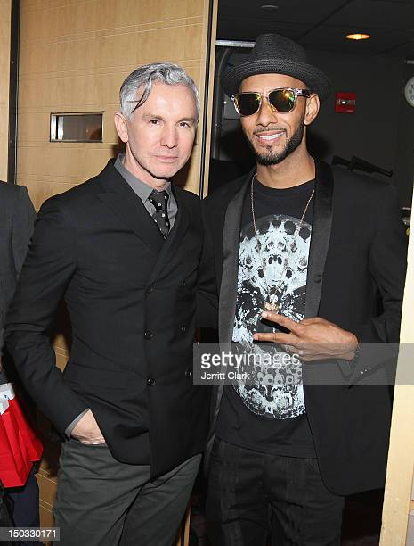 Film Director Baz Luhrmann and Swizz Beatz attend the Samsung Galaxy Note 10.1 launch party at Frederick P. Rose Hall, Jazz at Lincoln Center on...