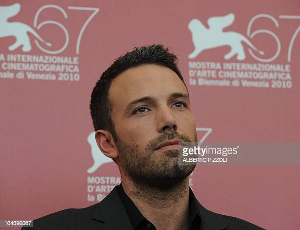 US film director Ben Affleck poses during the photocall of The town at the 67th Venice Film Festival on September 8 2010 at Venice Lido The town is...