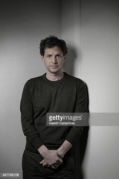 Film director Bennett Miller poses in the portrait studio at the BFI London Film Festival 2014 on October 16 2014 in London England